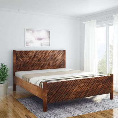 InLiving Niagara Sheesham Solid Wood King Bed