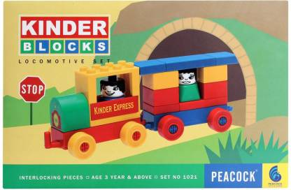Peacock KINDER BLOCKS LOCOMOTIVE SET