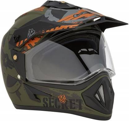 VEGA OFFROAD DV DULL BLACK GREEN Motorbike Helmet