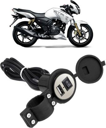 ACTOVISH Motorcycle USB Charger Bike USB Mobile Phone Power Charger Adapter Switch Waterproof/Stand USB Battery Charger for _155 2 A Bike Mobile Charger