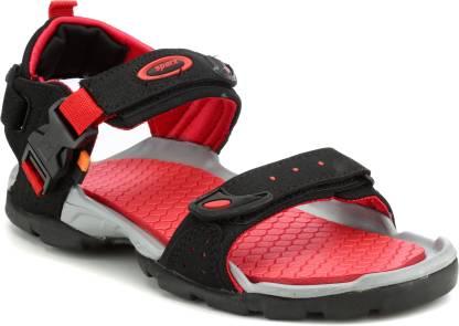 Sparx SS-502 Men Red, Black Sports Sandals