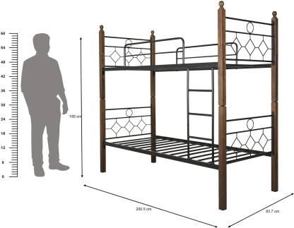 FurnitureKraft Manila Metal Single Bed Finish Color    Black  FurnitureKraft Beds