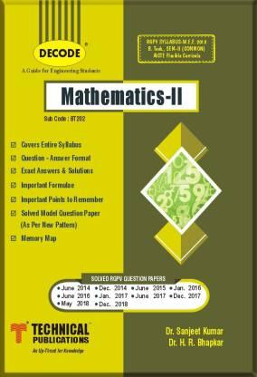 DECODE-Mathematics-II-RGPV (B.TECH. SEM-II Common) R-18