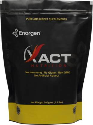 Enorgen XACT Nutrition - Whey Protein Concentrate 80% - ( 500 Gms, Unflavoured ) Whey Protein