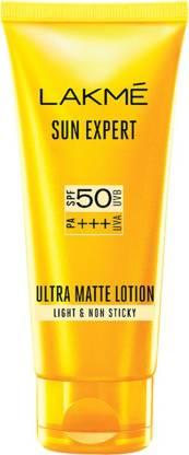 Lakmé Light and Non Sticky Sun Expert Ultra Matte Lotion - SPF 50 PA+++