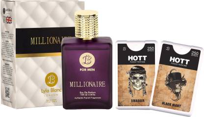 Lyla Blanc EDP Millionaire Perfume (100 ml) + 2 Pocket Perfume (18 ml each) Combo Offer For Men Eau de Parfum  -  136 ml