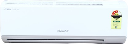 Voltas 1 Ton 3 Star Split AC - White (123 DZW, Copper Condenser)