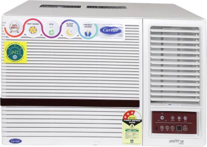 Carrier 1.5 Ton 3 Star Window AC - White  (18K Estra Neo (3 Star) Wrac AC R32, Copper Condenser)