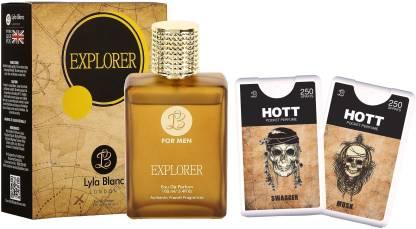 Lyla Blanc EDP Explorer Perfume (100 ml) + 2 Pocket Perfume (18 ml each) Combo Offer For Men Eau de Parfum  -  136 ml