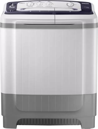 SAMSUNG 8 kg Semi Automatic Top Load with In-built Heater White, Blue, Grey