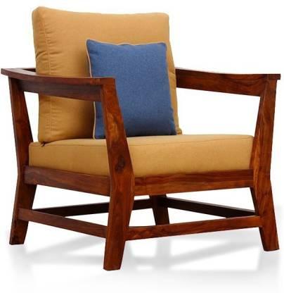 Suncrown Furniture Sheesham Wood Solid, Living Room Chair