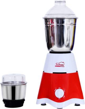 Silver Home STAR001 450 Mixer Grinder (2 Jars, RED AND WHITE)