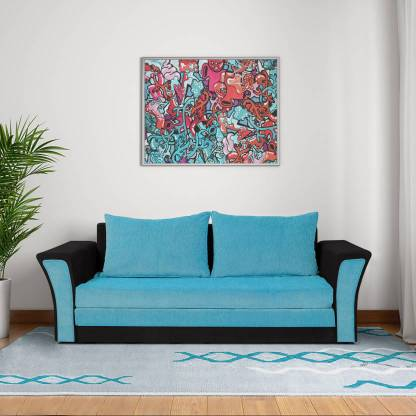 Bharat Lifestyle Leo Sofa Cum Bed Double Solid Wood Sofa Bed