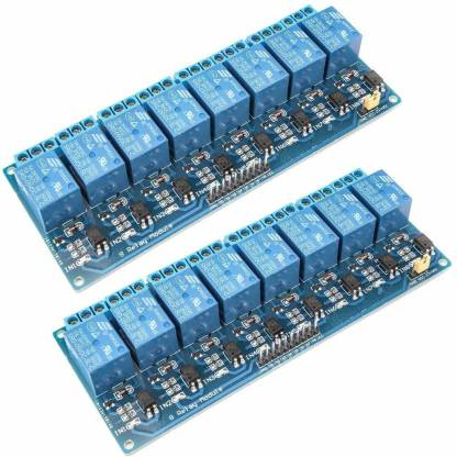 REES52 8 Channel DC 5V Relay Module with Optocoupler for Arduino UNO R3 MEGA 2560 1280 DSP ARM PIC AVR STM32 Raspberry Pi (Pack of 2) Micro Controller Board Electronic Hobby Kit
