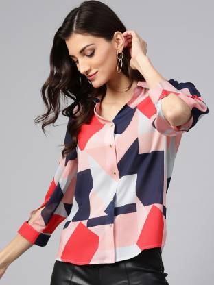 Zima Leto Women Printed Casual Multicolor Shirt