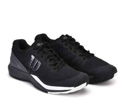 Wilson Rush Pro 3.0 Men Tennis Shoes Running Shoes For Men(Black)
