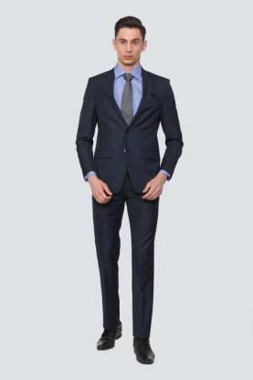 Louis Philippe Suit Set Self Design Men Suit