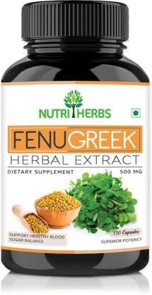Nutriherbs Fenugreek Extract 500mg (120 Capsules) | Best Fenugreek Supplements