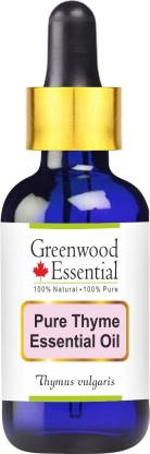Greenwood Essential Pure Thyme Essential Oil (Thymus vulgaris) with Glass Dropper 100% Natural Therapeutic Grade Steam Distilled