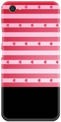 Smutty Back Cover for VIVO Y67, Y67L - Pink Heart Print