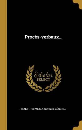 Proc s-Verbaux...