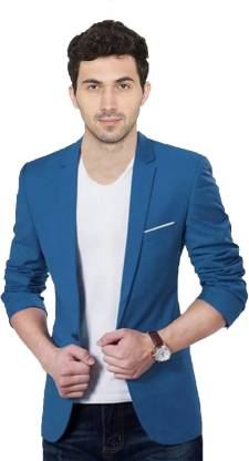 the club Solid Single Breasted Festive, Party, Casual Men Blazer