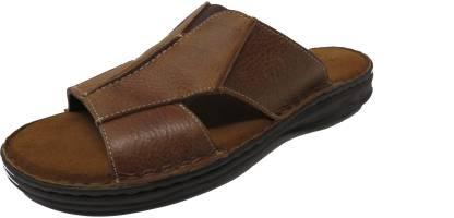 Men Tan Flats Sandal