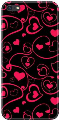 Smutty Back Cover for Oppo F3 Plus, CPH1613 - Pink Heart Print