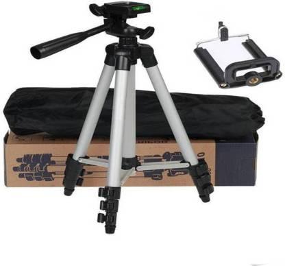 ZEOM ™ Tripod 3110 Portable Camera with 3 Dimensional Head wide 90 angle Monopod, Tripod(Silver, Supports Up to 1500) Tripod