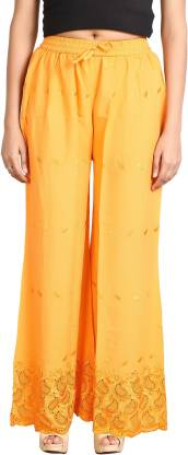 Fireage Regular Fit Women Yellow Trousers