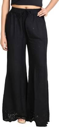 Fireage Regular Fit Women Black Trousers
