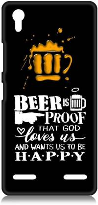 Smutty Back Cover for Lenovo A6000 - Happy Beer Print