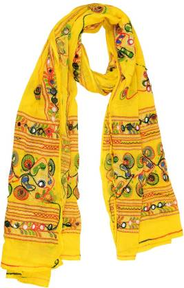 Traditions Bazaar Pure Cotton Embroidered Women Dupatta