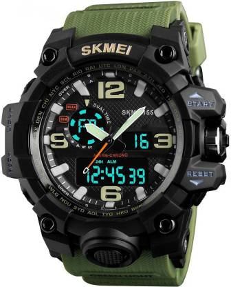 Skmei 1155 Army Green Chronograph Analog Digital Analog-Digital Watch - For Men