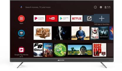 Micromax 124cm (49 inch) Ultra HD (4K) LED Smart Android TV