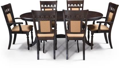 RoyalOak Solid Wood 6 Seater Dining Set