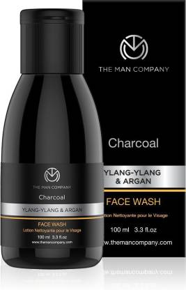 THE MAN COMPANY Charcoal  with Ylang Ylang & Argan Essential Oils Face Wash