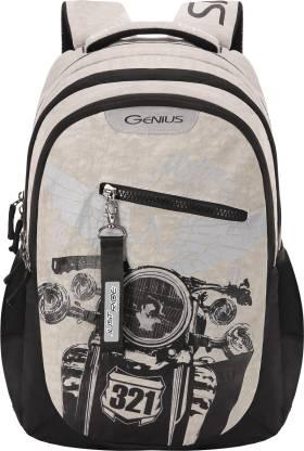 GENIUS Rodeo Plus Grey 19 inch Laptop Backpack Waterproof School Bag