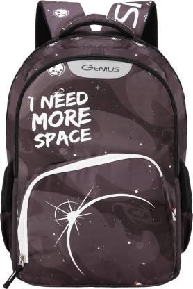 GENIUS Cosmo Black 19 inches Backpack Waterproof Backpack