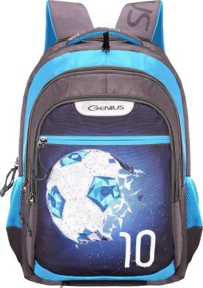 GENIUS Swaz Blue 19 inches Backpack Waterproof School Bag