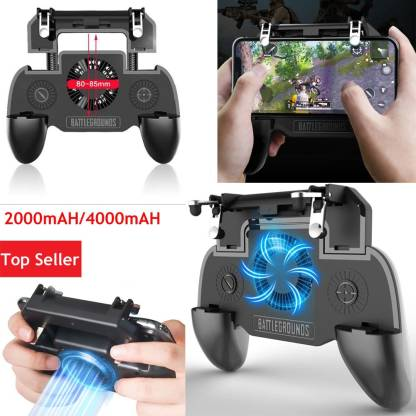 BUY SURETY Best Collection SR Pubg Gamepad Controller Pubg Mobile Trigger Phone Game Pad Fan with 2000mAh Inbuilt Power Bank Gamepad trigger Controller || Metal L 1 R 1 Shooter Trigger || Rechargeable Mobile Phone Gamepad || Fire Button || Cooling Fan for all Smartphone USB Gamepad