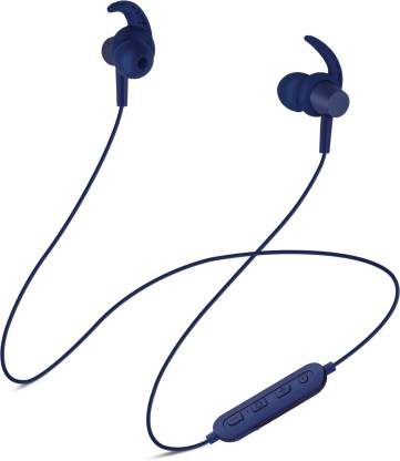 SoundLOGIC PLAY Voice Assistant Sport Earbuds Bluetooth Headset(Blue, In the Ear)
