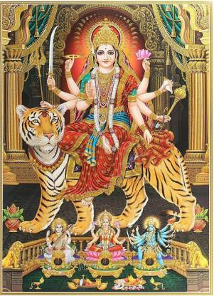 Art Work Photo Of Maa Durga Poster Large Print On 36x24 Inches Fine Art Print Art Paintings Posters In India Buy Art Film Design Movie Music Nature And Educational Paintings Wallpapers At