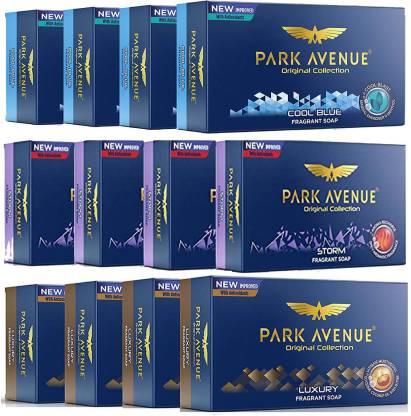 PARK AVENUE Soap COOL BLUE, LUXURY & STORM Fragrant Soap