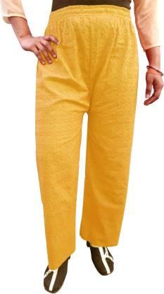 Regular Fit Women Beige Pure Cotton Trousers