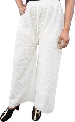 PARIE Regular Fit Women White Trousers