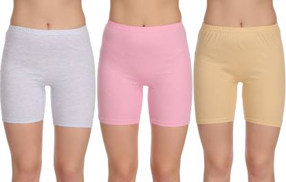 Selfcare Solid Women Multicolor Cycling Shorts