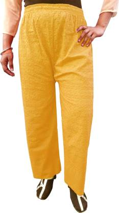 PARIE Regular Fit Women Yellow Trousers