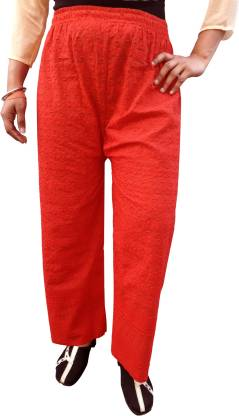 PARIE Regular Fit Women Red Trousers