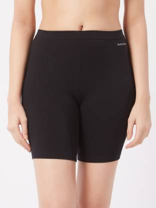 Fruit of the Loom Solid Women Black Night Shorts